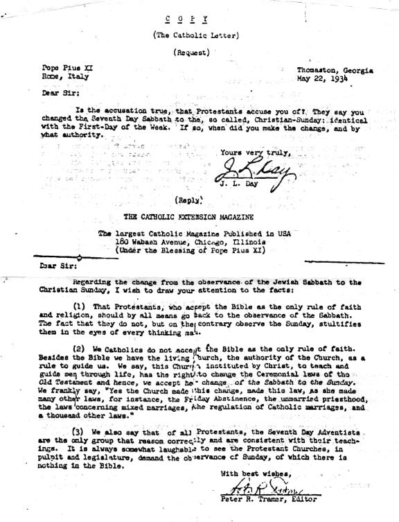 Government attacking sabbath actual letter sent by pope pius xi admitting rome changed sabbath thecheapjerseys Choice Image