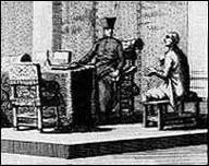 Engraving of the Inquisition at work